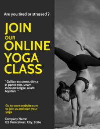 Yoga fitness online classes Flyer (US Letter) template