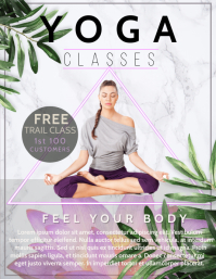 Yoga flyer, Health flyer, Meditation