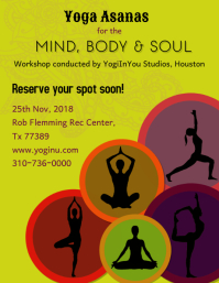 yoga Flyer (US Letter size) template