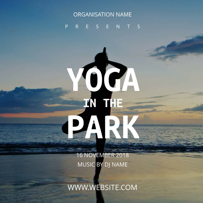 Yoga Flyer Template | PosterMyWall