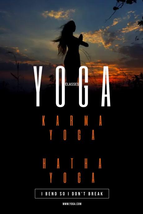 Yoga Flyer Póster template