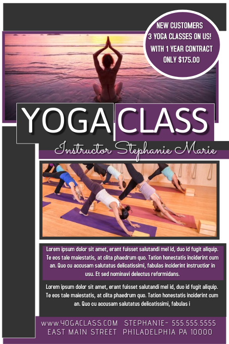 Customizable Design Templates For Yoga Class  Postermywall