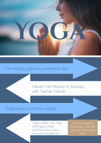 YOga Flyer Template courses