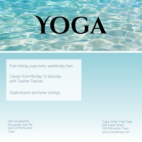 Yoga Flyer Template courses instagram post