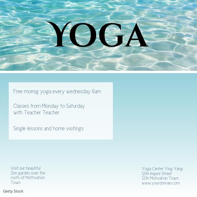 Yoga Flyer Template courses instagram post