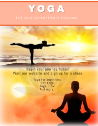 21 490 customizable design templates for yoga class flyer