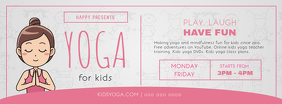 Yoga for Kids Class Ad Facebook Cover Photo