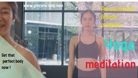yoga gym fitness Facebook social media post template