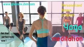 yoga gym fitness template Facebook social med Film w tle na Facebooka (16:9)