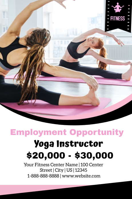 yoga instructor employment opportunity template