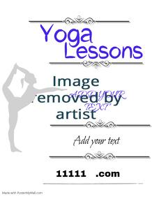 Customizable Design Templates For Yoga Studio
