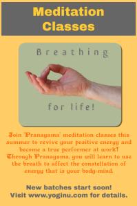 Yoga, Meditation Class Flyer