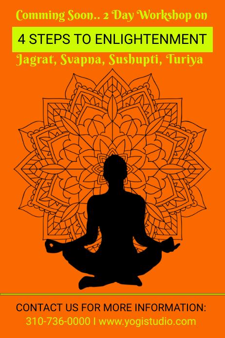 YOGA Meditation/ Enlightenment workshop flyer