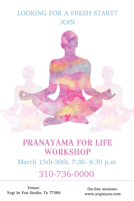 copy of yoga meditation flyer