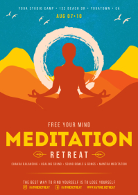 YOGA / MEDITATION POSTER A4 template