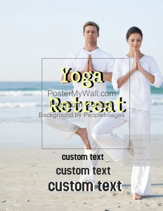 yoga meditation retreat flyer template postermywall