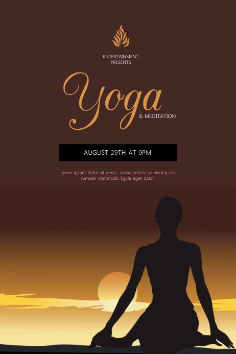 Yoga meditation workshop event flyer template