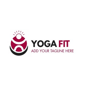 yoga minimal logo icon template design