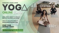 Yoga Online Class Banner Facebook Cover Video (16:9) template