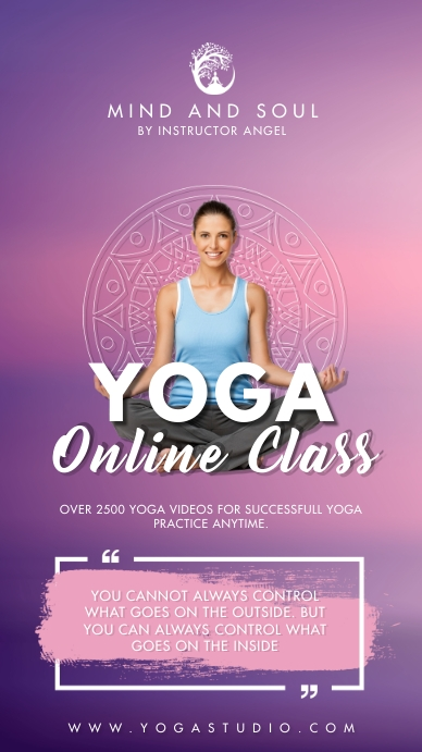 Yoga Online Class Flyer Instagram Story template