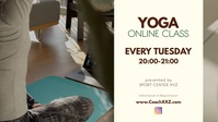 Yoga Online Class Workshop Workout course ad Facebook Cover Video (16:9) template