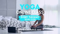 Yoga Online Class Workshop Workout course ad Facebook-omslagvideo (16: 9) template