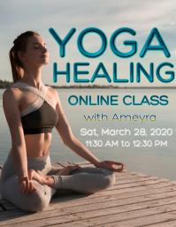 Yoga online healing class