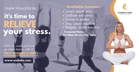 yoga online lessons facebook advertisement template