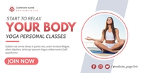 yoga personal training facebook advertising p Facebook-annonce template