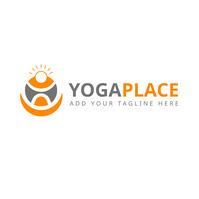 yoga place icon logo template design 徽标