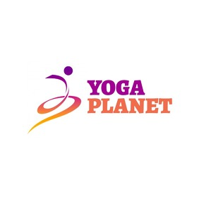 yoga planet icon logo template design