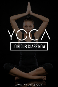Yoga poster advertisement template