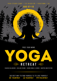YOGA POSTER A4 template