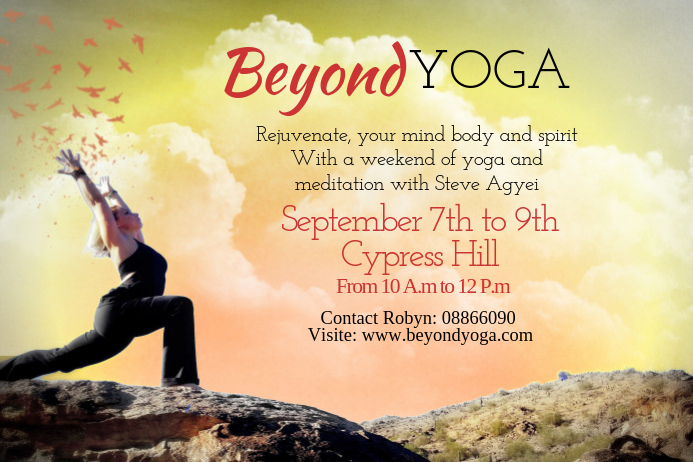 Yoga Poster Template
