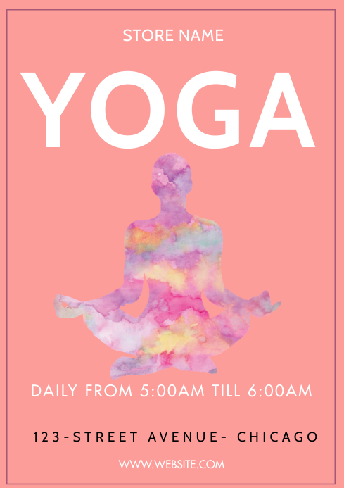 Yoga posters A3 template