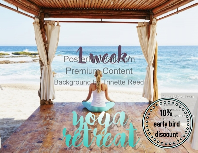yoga retreat flyer template postermywall