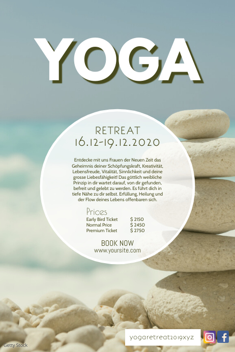 Yoga Retreat Workshop Seminar Meditation Ad