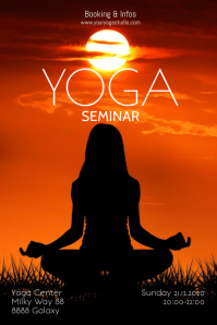 Yoga Seminar Workshop Class Basic Poster Ad