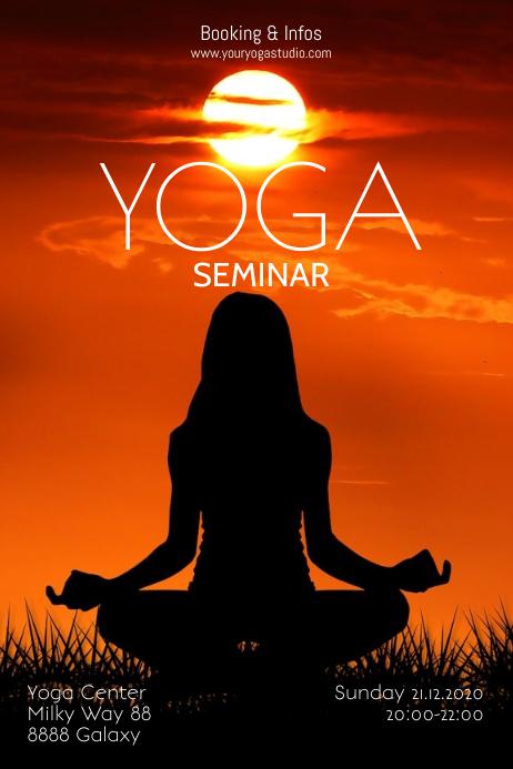Yoga Seminar Workshop Class Basic Poster Ad