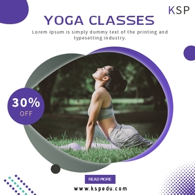 Yoga social media post design template