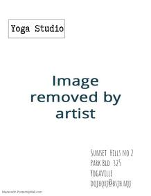 yoga studio card flyer template