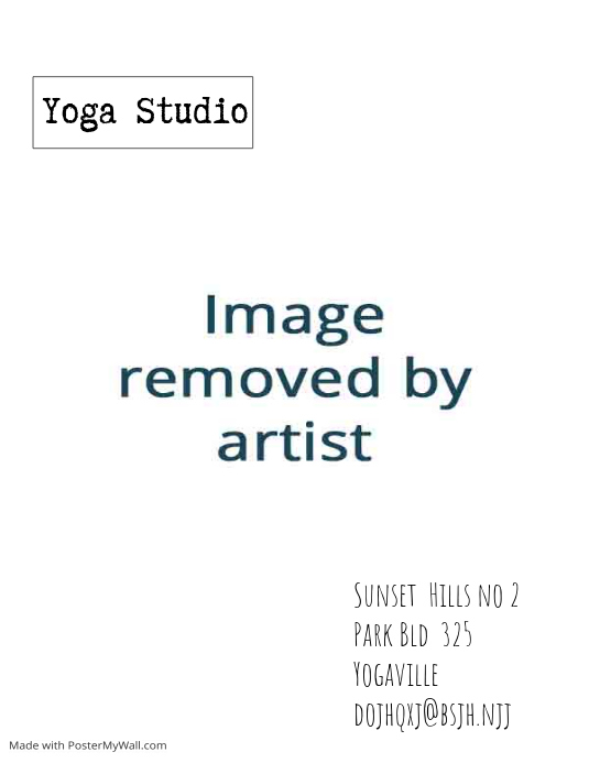yoga studio card flyer template