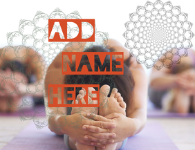 yoga lesson yoga event flyer