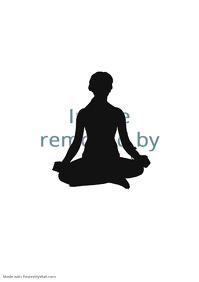 yoga studio poster A1
