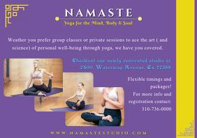 yoga studio poster A4