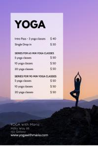 Yoga Studio Price List Classes Flyer Workshop