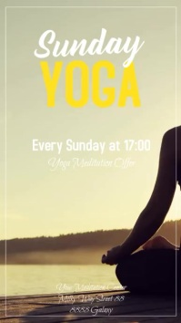 Yoga Sunday Spiritual Meditation Event Instagram-verhaal template