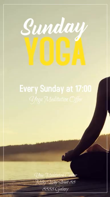 Yoga Sunday Spiritual Meditation Event Instagram Story template