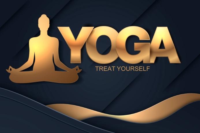 Yoga Template Banner 4' × 6'