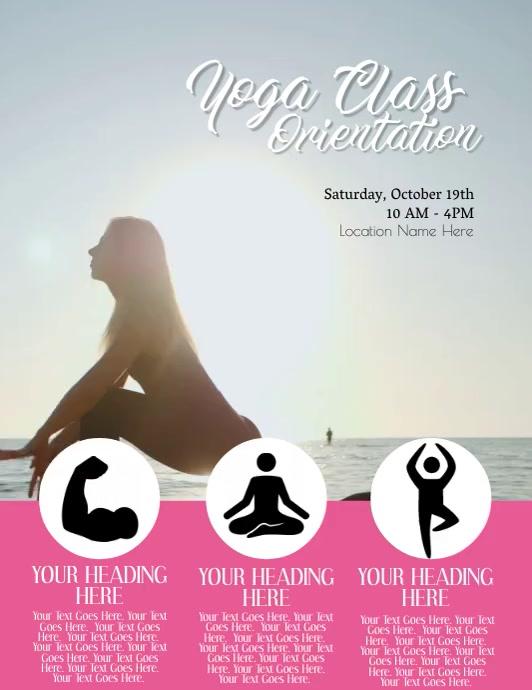 Yoga Video Flyer Template Folheto (US Letter)